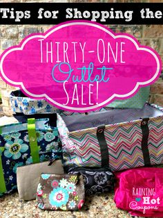 TIPS to Shop the Thirty-One Outlet Sale (Save up to 70%!) STARTS TOMORROW!