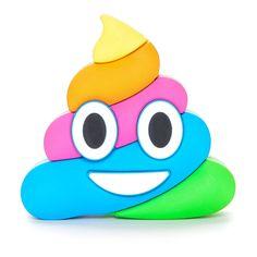 Dash Charms® Rainbow Poop Emoji Power Bank Portable Charger