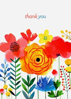 Margaret Berg Art: Meadow+Flowers+Thank+You
