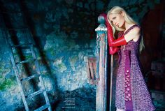 Over the Hills and Far Away - Kirsty Hume by Erik Madigan Heck for Harper's Bazaar UK September 2015 - Prada