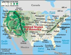 USA State Capitals And Major Cities Map Practice Writing Cities - United states map with cities