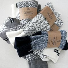 cosy knit socks from Holebrook