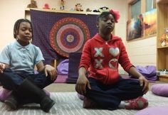 School in Baltimore sends children to the mindfulness meditation room rather than the principals office --- mindfulness, education, green education Papa Positive, Mindfulness Based Stress Reduction, Restorative Justice, Out Of My Mind, Yoga For Kids, Mindfulness Meditation, Public School, High School, Elementary Schools