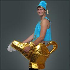 Wunderlampe zum Rubbeln :-) Ein perfektes Kostüm für einen Jungesellenabschied. Da wird die Party gleich ein Hit!