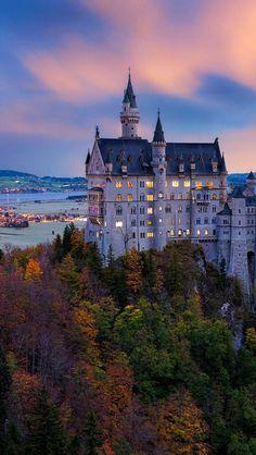 Sunrise.. Neuschwanstein Castle, Bayern, Germany | by İLHAN EROGLU