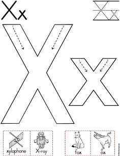 Alphabet Letter X Worksheet | Standard Block Font | Preschool Printable Activity