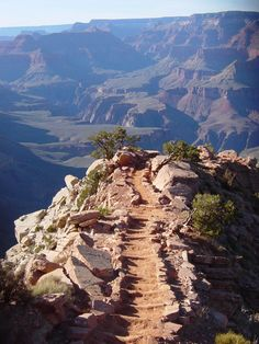 South Kaibab Trail - Grand Canyon National Park View looking down windy ridge on the South Kaibab trail during the spring equinox at pm. To help plan your visit to Grand Canyon National Park visit: www. Grand Canyon South, Trip To Grand Canyon, Oh The Places You'll Go, Places To Travel, Places To Visit, Tucson, Seen, By Train, To Infinity And Beyond