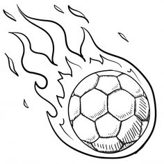 soccer ball in flames for kids