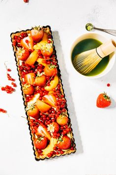 matcha pastry cream fruit tart recipe hummingbird