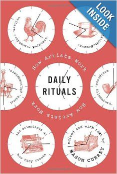 """Daily Rituals: How Artists Work Mason Currey Franz Kafka, frustrated with his living quarters and day job, wrote in a letter to Felice Bauer in """"time is short, my strength is limited, the office. Good Books, Books To Read, My Books, Evernote, This Is A Book, The Book, O Ritual, Book Covers, Routine"""