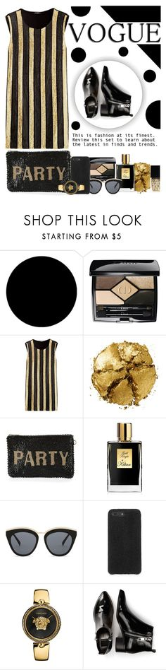 """""""Style"""" by nahucielore ❤ liked on Polyvore featuring Wall Pops!, Christian Dior, Balmain, Pat McGrath, Mary Frances Accessories, Kilian, Le Specs, Versace, Dolce Vita and Witchery"""