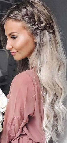 Wedding Hairstyles Medium Hair Messy and Beautiful Braids picture 6 - Find out which trends are in for side braid hairstyles this season. We will reveal all the beauty secrets. You wouldn't resist trying these ideas. Side Braid Hairstyles, Hairstyles 2018, Homecoming Hairstyles, Hairstyle Ideas, African Hairstyles, Hairstyle Braid, Hair Ideas, Medium Hairstyles, Hairdos
