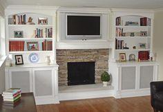 fireplace tv built ins
