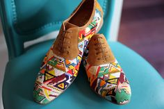 I don't know if I need them to be hand beaded but ohhhh how I love the idea of patterned loafers