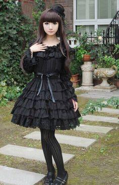 COMING SOON: Black Multiple Layers Long Sleeves Lolita OP Dress »> https://www.facebook.com/MyLolitaDress/posts/787753717958514