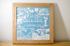 Customised Anniversary Papercut Gift