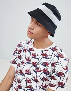 5b42ec86dbf32 ASOS DESIGN bucket hat in black with white mesh panel Asos Men