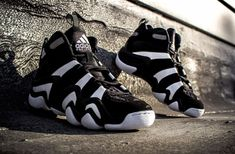 adidas Basketball Crazy 8 - Black / White and University Red