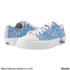 Vibrant Abstract Pattern Low-Top Sneakers