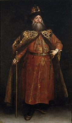 1681-82.El embajador de Rusia Peter Ivanovich Potemkin.The Russian ambassador to Spain Pyotr Potemkin.circa 1681-1682.oil on canvas.168 × 105 cm (66.1 × 41.3 in)Prado Museum.Juan Carreño de Miranda (1614-1685)