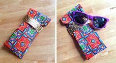 men's ties sewn into glasses cases... brilliant!