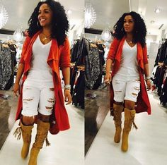 Back in stock by popular demand! The orange suede trench cardigan is bomb & cute to top off with any outfit! Stop by or call us to place a phone order We are open until Don't miss out. Black Girl Fashion, Love Fashion, Fashion Looks, Womens Fashion, Chic Outfits, Fall Outfits, Summer Outfits, Fashion Outfits, Amo Jeans