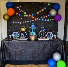 Keeping your party table clean and dressed in theme is a breeze with our Space Blast Printed Tablecover. This tablecloth will take your decor to the next level and add a festive outer space touch to your birthday table setting. No need to worry if your little one spills, this tablecover is plastic and easy to wipe clean!