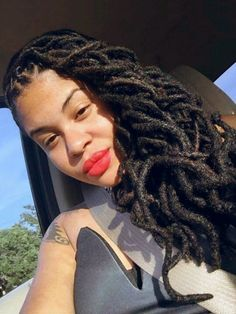 The real goddess locs Dreadlock Styles, Dreadlock Hairstyles, Locs Styles, Pelo Natural, Goddess Locs, Natural Hair Inspiration, African American Hairstyles, Dream Hair, Hair Journey