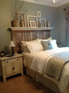Interior. Rustic Brown And White Wooden Headboard Connected By White Bedding Set On The Bed With And. Astonishing Design Of Wall Mounted Headboards Completing The Bed