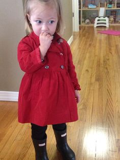 #Kids Fashion #Burberry Trench #Hunter Boots #GiannaP
