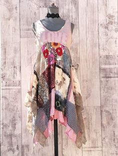 Your place to buy and sell all things handmade Boho Hippie, Hippie Style, Recycled Dress, Recycled Clothing, Clothing Redo, Sewing Clothes, Corsage, Boho Chic, Boho Fashion
