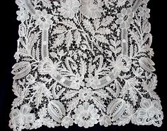 """Exquisite Brussels Duchesse Shawl  120"""" by 18"""" wide...wouldn't it be lovely on a table."""