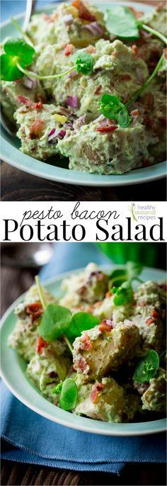 pesto bacon potato salad - Healthy Seasonal Recipes