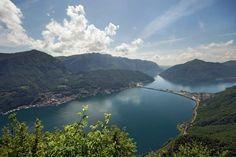 Treinreis op bergrug bij Lugano Zwitserland. Heel steil, gezien bij Railaway.
