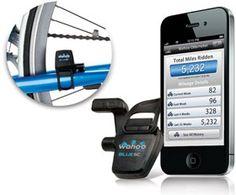 サイクリングの速度や距離をアプリで記録できるBluetoothアクセサリ「Wahoo Fitness スピード・ケイデンスセンサー Blue SC for iPhone」