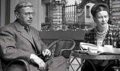 Cafe society: Jean-Paul Sartre and Simone de Beauvoir in Paris, 1940.
