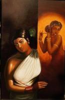 Awaiting Painting By Arunabha Karmakar