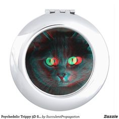 Psychedelic Trippy 3D Special Effect Grey Pet Cat