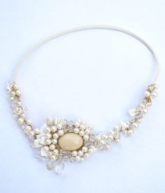 vincha para novias con perlas!