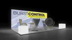 252 Turbinen Burstcontrol  | Eleganter Messestand für ein Unternehmen der Luftfahrttechnik.   Die vollflächig hinterleuchtete Rückwand mit Turbinen Motiv sorgt für das richtig...