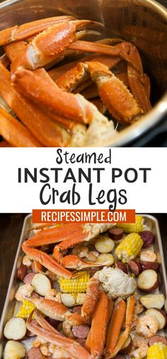 If you have seafood lovers in your family that love Crab legs, now you can easily satisfy their cravings by cooking crab legs at home in the Instant Pot. So easy and so delicious! #instantpot #crablegs #seafood via @judyjwilson