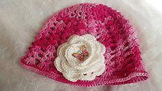 MelinetDecorCrochet / Dievčenská bavlnená čiapka