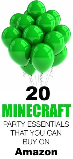 20 Minecraft Party Essentials That You Can Buy on Amazon.com/?utm_content=bufferd1848&utm_medium=social&utm_source=pinterest.com&utm_campaign=buffer thanks to @weheartparties