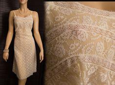Double layer lemon lace 1960s vintage full slip by Charmor (PL233) via Etsy