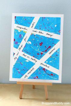 Inspirational Splatter Paint Art Project for Kids ~ BuggyandBuddy.com