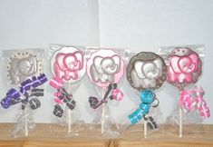 Chocolate Baby Elephant lollipops by candycottage on Etsy, $16.50