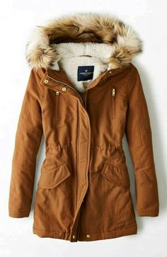 AEO Hooded Parka in burnt orange - this looks so warm and cozy, i love the color Fall Winter Outfits, Winter Wear, Autumn Winter Fashion, Fall Fashion, Mode Outfits, Fashion Outfits, Fashion Mode, Womens Fashion, Emo Fashion