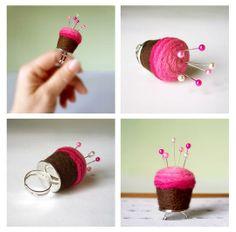 Custom Cutie Cupcake Pincushions by Made in Lowell | Hatch.co