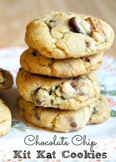 Chocolate Chip Kit Kat Cookies!