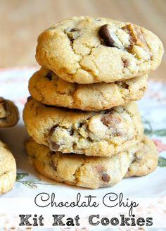 Chocolate Chip Kit Kat Cookies!